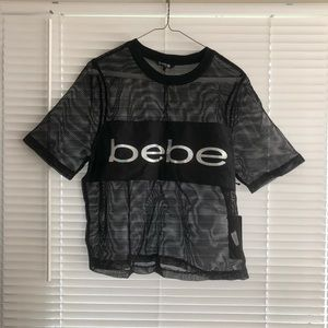 Bebe Mesh Sport Top Shirt
